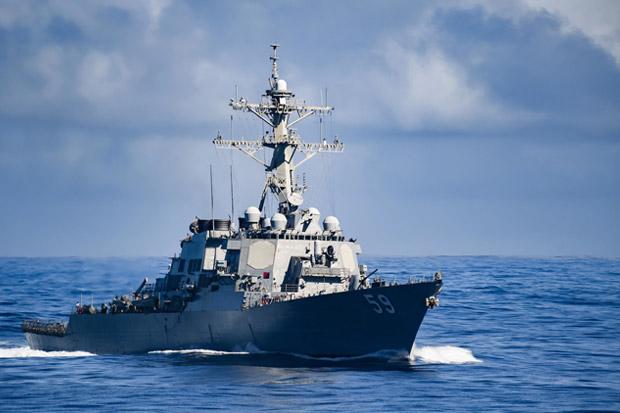 Tantang China di LCS, Kapal Perang AS Berlayar Dekat Kepulauan Spratly