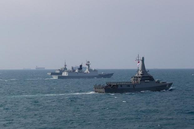 China-Singapura Latihan Gabungan di Laut China Selatan, Libatkan Kapal Perang Siluman