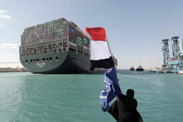 Terusan Suez Tersumbat, Mesir Minta Ganti Rugi USD1 Miliar