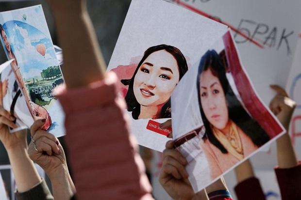 Seorang Pengantin Perempuan Diculik dan Dibunuh, Protes Besar Guncang Kyrgyzstan