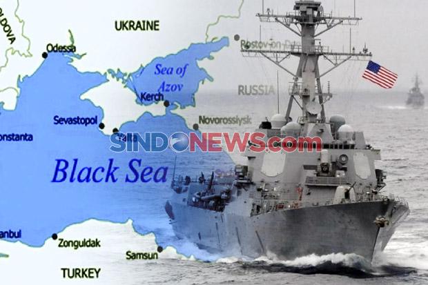 Rusia-Ukraina Bersitegang, AS Pertimbangkan Kirim Kapal Perang ke Laut Hitam