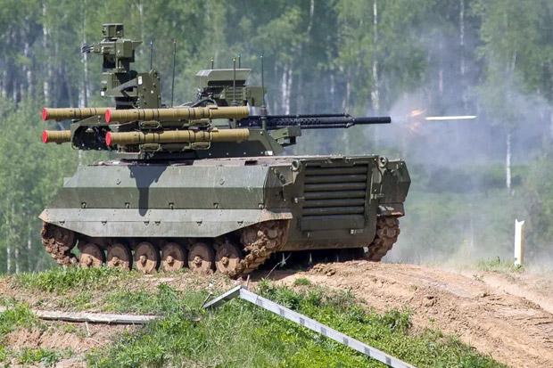Rusia Bentuk Unit Militer Pertama yang Dipersenjatai Robot Tempur