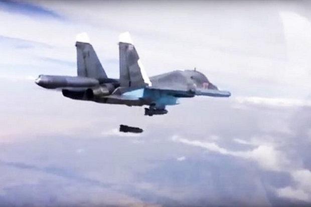 Rusia Bantai 200 Militan di Suriah, Dibom dari Udara