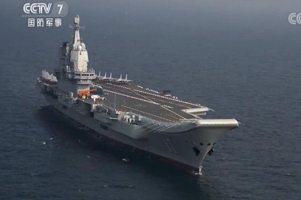 Kapal Induk China Rampungkan Latihan Perang di Laut China Selatan
