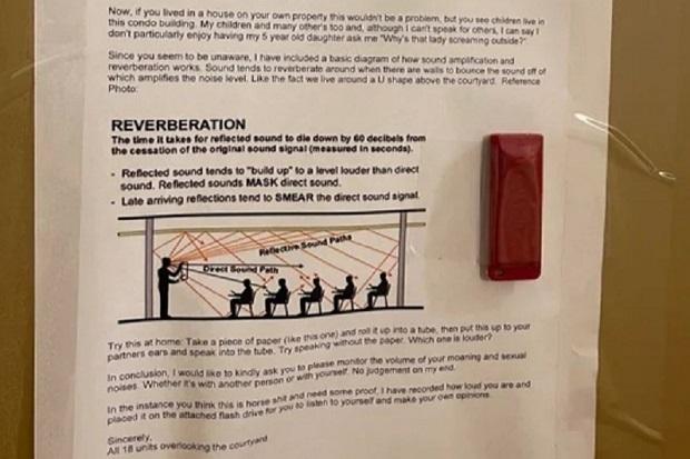 Warga AS Protes Aktivitas Seks Tetangga Kelewat Berisik, Tunjukkan Rekaman sebagai Bukti