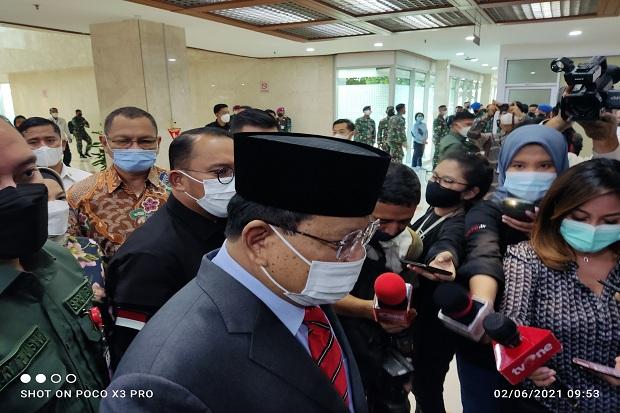 Soal Anggaran Alpalhankam Rp1.760 T, Prabowo: Nanti Saja Dijelaskan di DPR