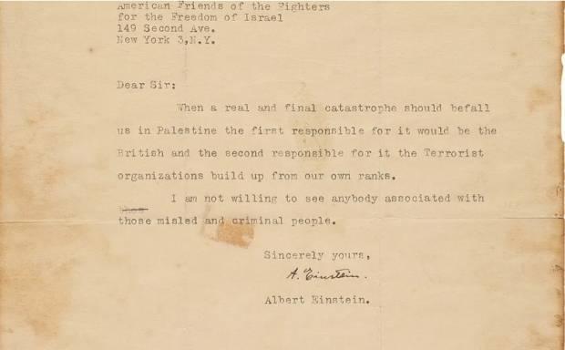Keruntuhan Final Israel Telah Diprediksi Einstein dalam Suratnya