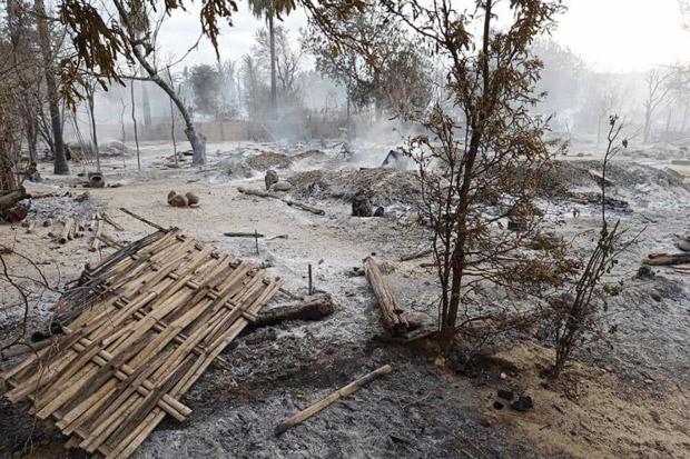 Redam Aksi Perlawanan, Pasukan Junta MyanmarPakai Taktik Bumi Hangus