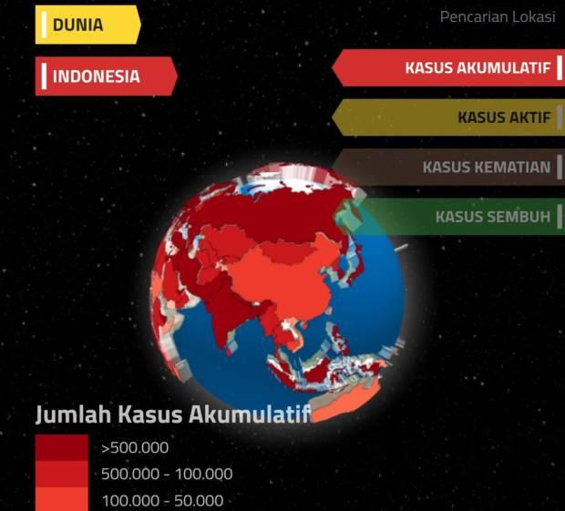 Aplikasi Ini Mampu Pantau Perkembangan Kasus COVID-19 di Dunia