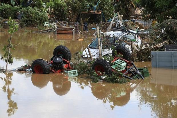 Banjir Bandang Tewaskan 92 Orang di Jerman dan Belgia, Merkel Shock