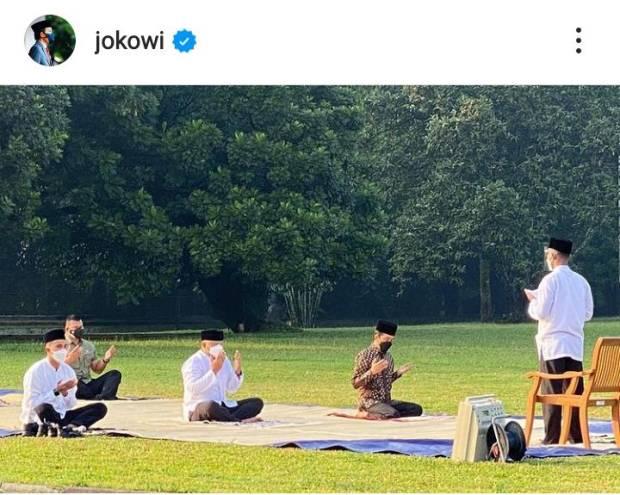 Jokowi Salat Idul Adha di Halaman Istana Bogor, Paspampres Jadi Imam dan Khatib