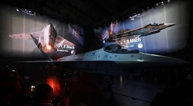 Putin Tinjau Langsung Peluncuran Jet Tempur Rusia Generasi Kelima Checkmate