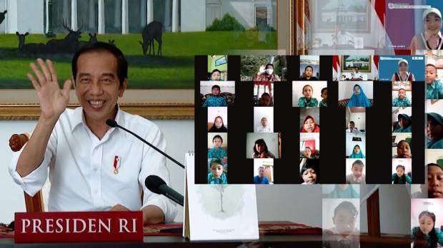 Hari Anak Nasional, Jokowi Janji Buka Sekolah Tatap Muka jika Kasus Covid Turun