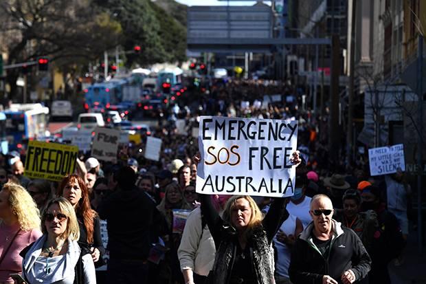Demonstrasi Skala Besar Bisa Perpanjang Waktu Lockdown di Australia