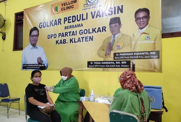 Yellow Clinic Golkar Berperan Nyata Percepat Vaksinasi