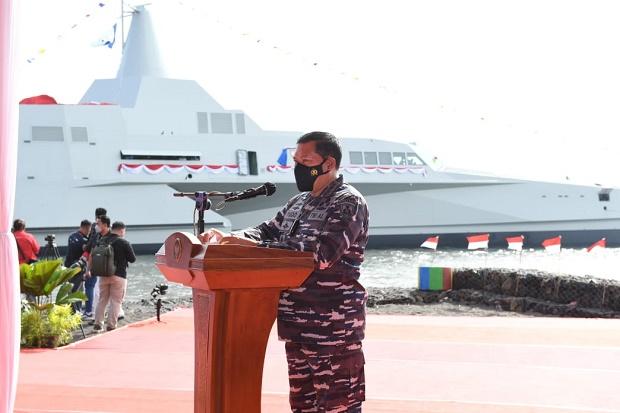 TNI AL Punya Armada Kapal Tempur Terbaru, KSAL Yudo Margono Resmikan KRI Golok 688