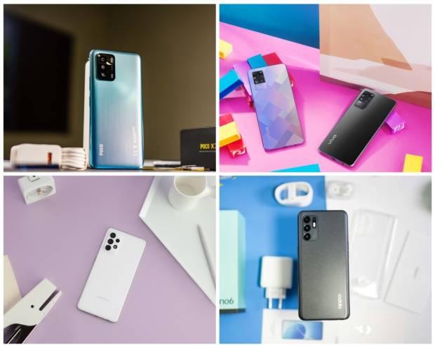 Komparasi POCO X3 GT vs Samsung Galaxy A72 vs OPPO Reno6 vs Vivo V21 5G