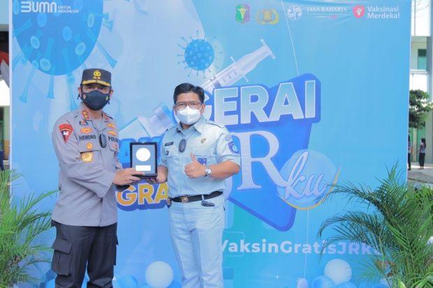 Jasa Raharja Gelar Vaksinasi Merdeka JRKu untuk Siswa dan Masyarakat Lampung