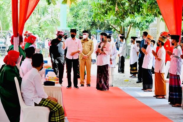 Jokowi Apresiasi Dukungan Ponpes terhadap Program Vaksinasi Covid-19