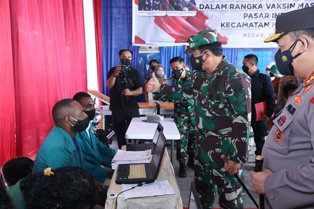 Panglima TNI Nilai Pengetatan PPKM Level 4 Berhasil Turunkan Kasus Covid-19 di Jambi