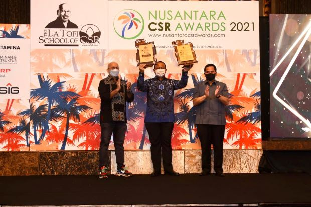Konsisten Implementasi ESG, Pertamina Borong Penghargaan Nusantara CSR Awards