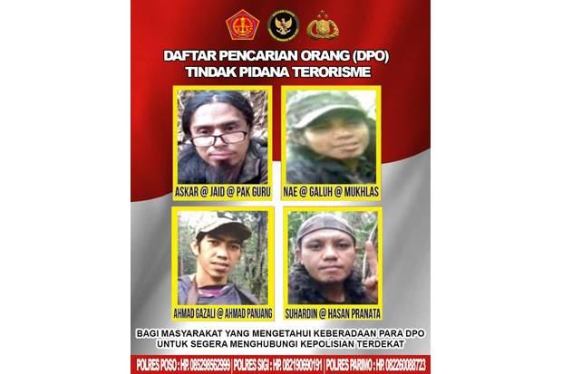 Ini Wajah 4 DPO Teroris Poso Sisa Anak Buah Ali Kalora yang Masih Diburu