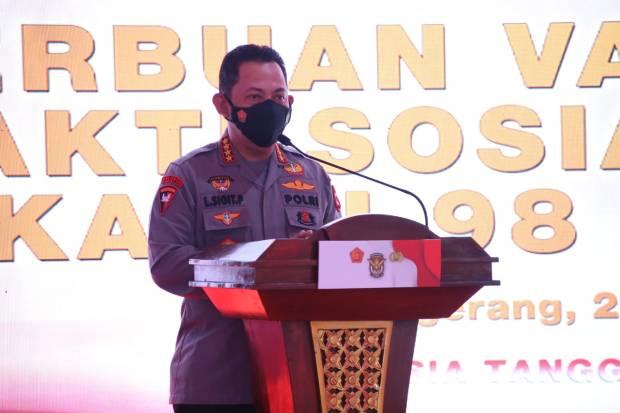 Vaksinasi AKABRI 1998, Kapolri: Wujud Sinergitas TNI-Polri Tekan Corona