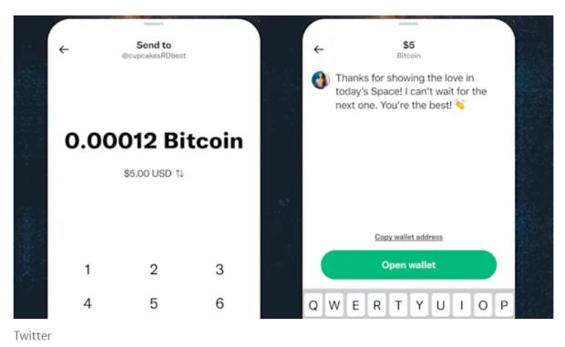 Pengguna Twitter Kini Bisa Disawer Bitcoin