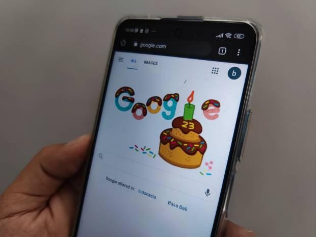 Rayakan HUT ke 23, Hari Ini Pencarian Google Berbentuk Kue Ultah