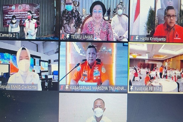 Buka Pelatihan Baguna PDIP, Megawati Bicara Potensi Kerawanan Bencana Indonesia