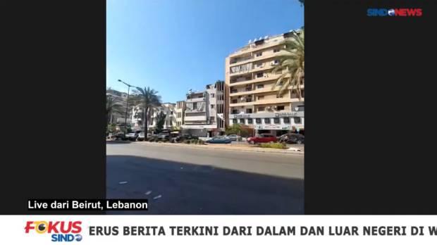 Suasana Terkini Pascaledakan Maut di Beirut Ibu Kota Lebanon
