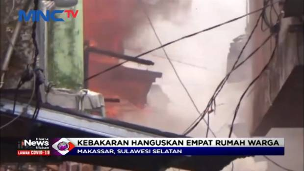 Kebakaran Pemukiman Padat Penduduk di Makassar