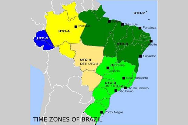 10 countries with the time Zone the Most