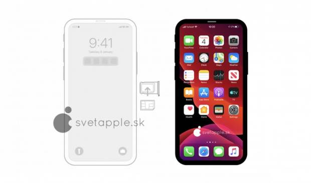 Leaked images of the iPhone 12 Apple-Design-notches of the Show