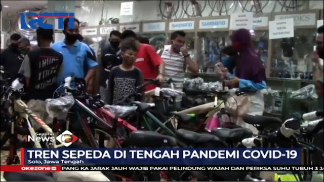 VIDEO: Toko Sepeda di Solo Dibanjiri Pembeli Setelah...